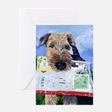Cute Airedales Greeting Card