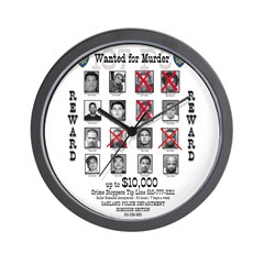 Wanted for Murder Wall Clock