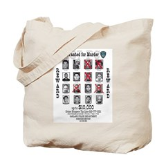 Wanted for Murder Tote Bag