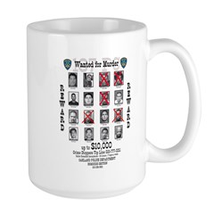 Wanted for Murder Large Mug