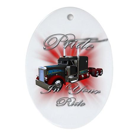 Pride In Ride 3 Oval Ornament