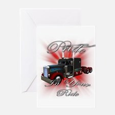 Pride In Ride 3 Greeting Card