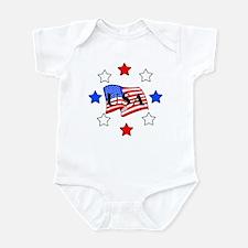 USA Stars and Stripes Infant Bodysuit