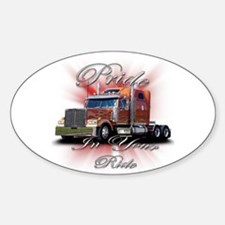 Pride In Ride 2 Oval Decal