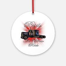 Pride In Ride 1 Ornament (Round)