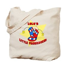 Lolo's Firecracker July 4th Tote Bag
