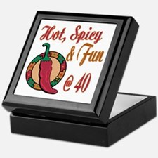 Hot N Spicy 40th Keepsake Box
