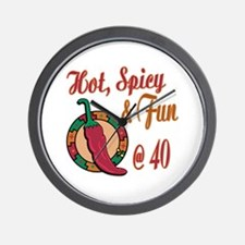 Hot N Spicy 40th Wall Clock