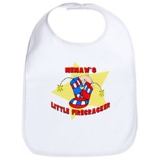 Memaw Firecracker July 4th Bib