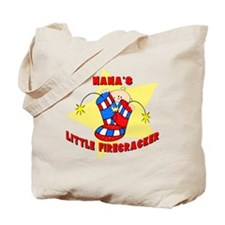 Nana's Firecracker July 4th Tote Bag