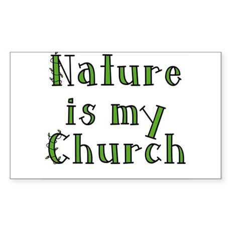 Nature is my Church Rectangle Sticker