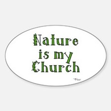 Nature is my Church Oval Stickers
