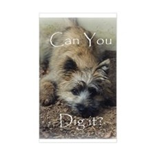 Cairn Terrier Dig It! Rectangle Decal
