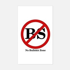 No BS Zone Rectangle Decal