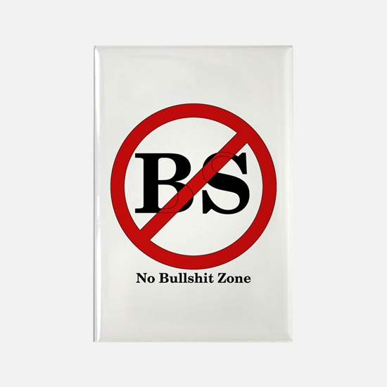 No BS Zone Rectangle Magnet