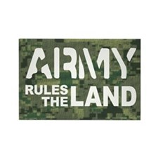 Army Rules Green Camo Rectangle Magnet (100 pack)