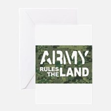 Army Rules Green Camo Greeting Card