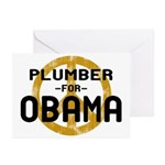 Plumber for Obama Greeting Cards (Pk of 10)