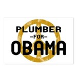 Plumber for Obama Postcards (Package of 8)