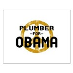 Plumber for Obama Small Poster