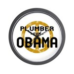 Plumber for Obama Wall Clock