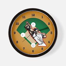 Pointing Batter Wall Clock