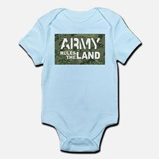 Army Rules Green Camo Infant Bodysuit