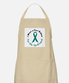 Teal Ribbon For My Girlfriend 4 BBQ Apron
