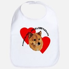 Finnish Spitz Love Bib