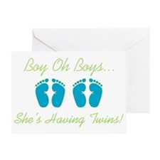 Boy Oh Boys - Twin Shower Invitation