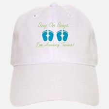 Boy Oh Boys - Expecting Twins Baseball Baseball Cap