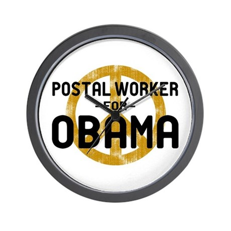 Postal Worker for Obama Wall Clock