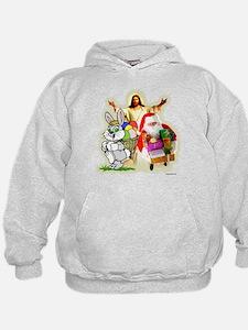 Easter Bunny, Jesus, Santa Cl Hoodie