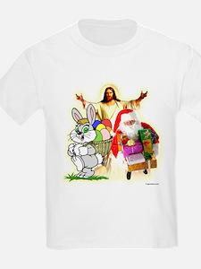 Easter Bunny, Jesus, Santa Cl T-Shirt