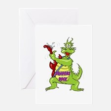 Dragons Rock Greeting Card