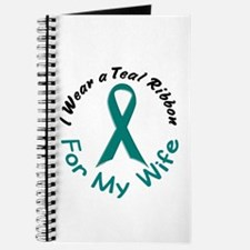 Teal Ribbon For My Wife 4 Journal