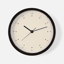 Quaint Wall Clock with Arabic Numerals (Digits)