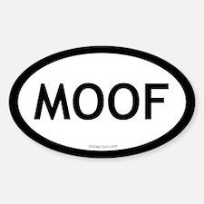 Moof oval sticker