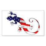 Gecko Patriotic Rectangle Sticker