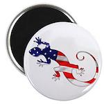 Gecko Patriotic Magnet