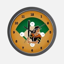 Gal Batter Wall Clock