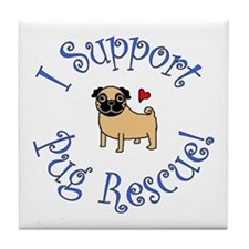 Pug Rescue (Fawn) Tile Coaster