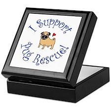 Pug Rescue (Fawn) Keepsake Box