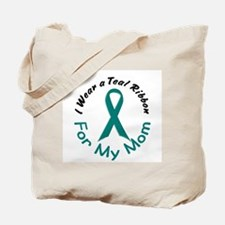 Teal Ribbon For My Mom 4 Tote Bag
