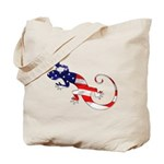 Gecko Patriotic Tote Bag