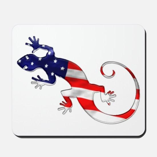Gecko Patriotic Mousepad