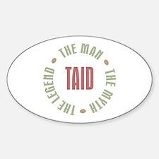 Taid Man Myth Legend Oval Decal