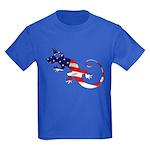 Gecko Patriotic Kids Dark T-Shirt