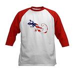 Gecko Patriotic Kids Baseball Jersey