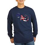 Gecko Patriotic Long Sleeve Dark T-Shirt